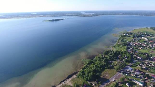 озеро Свитязь с выосты птичьего полета